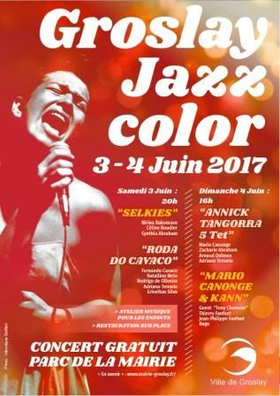 GROSLAY JAZZ COLOR Affiche
