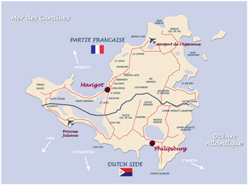 carte saintmartin
