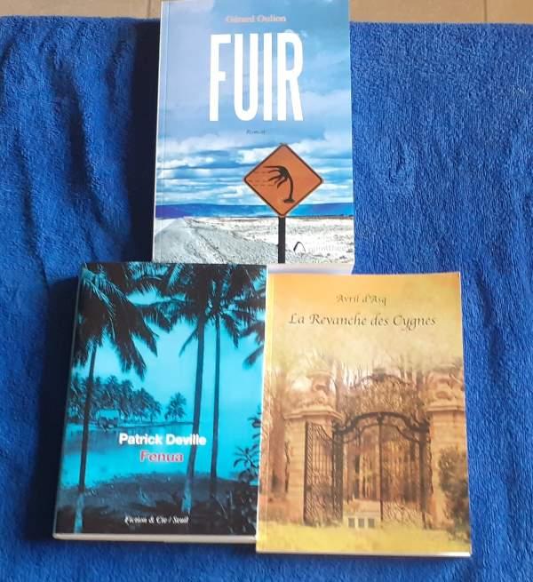 3 romans passionnant en rapport avec les outre-mer: FENUA/FUIR/ LA REVANCHE DES CYGNES