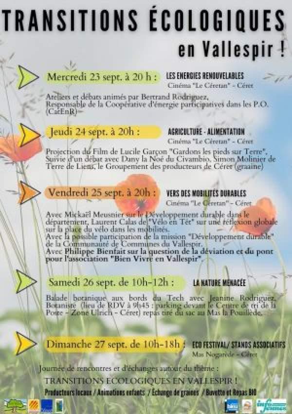 Eco festival-Céret- 23 au 27 septembre 2021