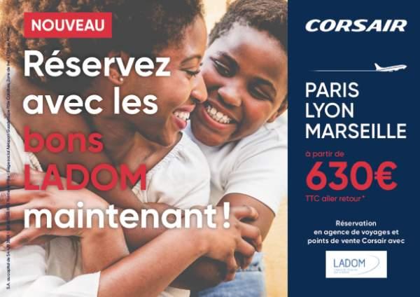 La compagnie aérienne Corsair a signé une Convention de Partenariat avec LADOM (L'Agence De l