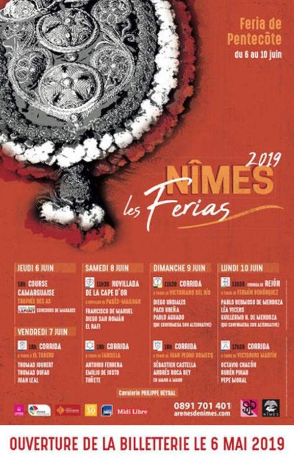 Féria de Nîmes-Pentecôte-6 au 10 juin 2019