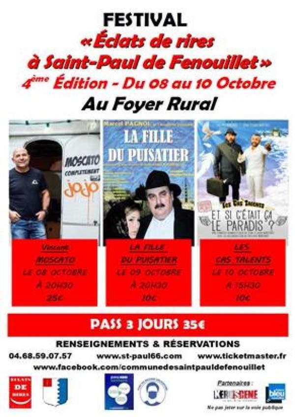 4ème édition Éclats  de rire-Saint Paul de Fenouillet -8 au 10 octobre 2021