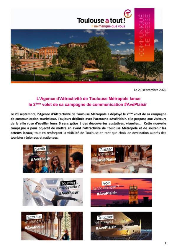 Toulouse a tout....il ne manque que vous!