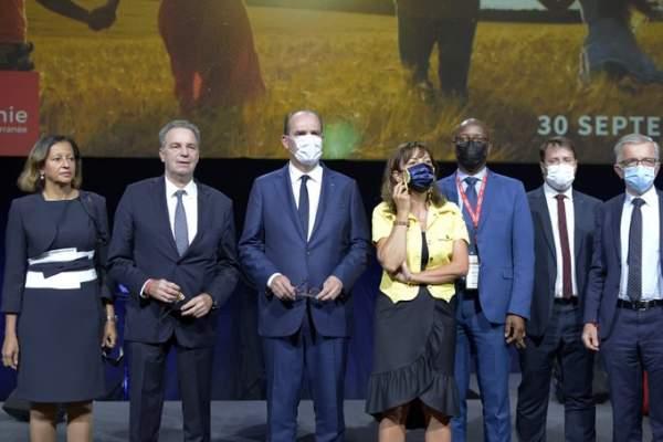 Congrès des régions de France 2021 -Montpellier- Carole Delga ,Jean Castex  et Sylvain Tesson en guest stars