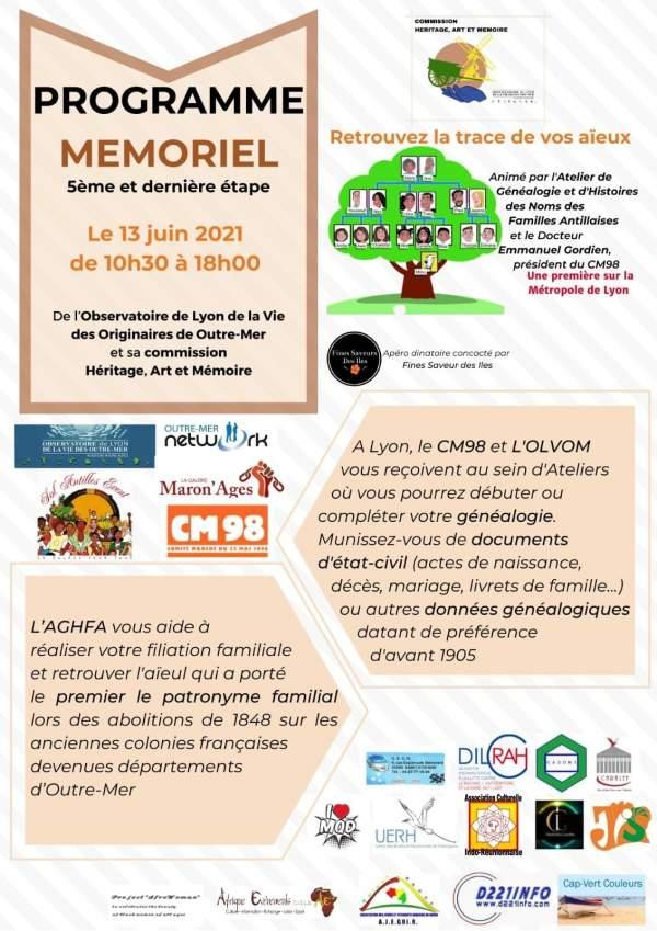 Atelier de Généalogie du CM98 exceptionnel à Lyon Dimanche 13 Juin 2021