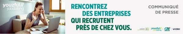 Agenda recrutement : 7 juillet de 11h à 14h (heure de Martinique),  de 12h à 15h (heure de Guyane), de 17h à 20h (heure de métropole) : e-Job Dating pour l